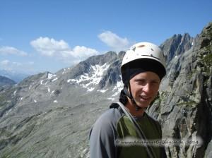 Bergsteigen in der Schweiz am Salbitschijen September 2009