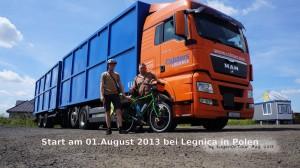 Vom Vater bis Legnica nach Polen gebracht